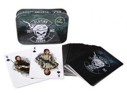 Hrací karty US ARMY (52 karet) 101.INC dárková krabička