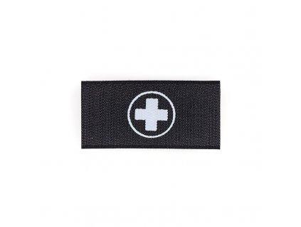 Nášivka na suchý zip s křížem zdravotník AČR ALP FENIX AC-104 černá/bílá