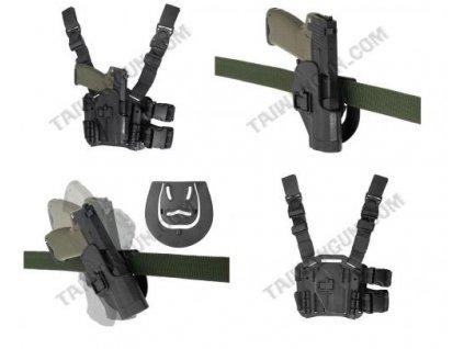 Pouzdro stehenní modular BLACKHAWK černé Glock
