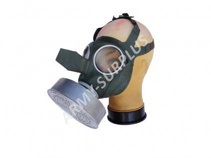 Plynová maska Luftschutz VM40 Auer Německo zelená