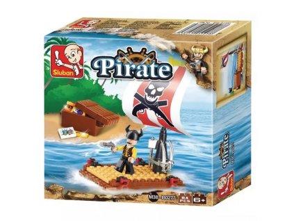 Stavebnice Sluban - Pirátský vor