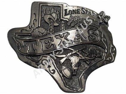 Přezka na opasek Western Texas - starozinek B0973