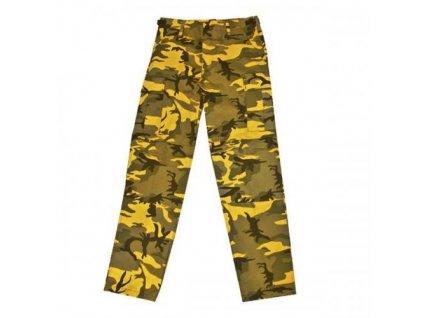 Kalhoty BDU camo žluté yellow