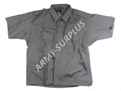 Košile s krátkým rukávem šedá Tru-Spec ripstop