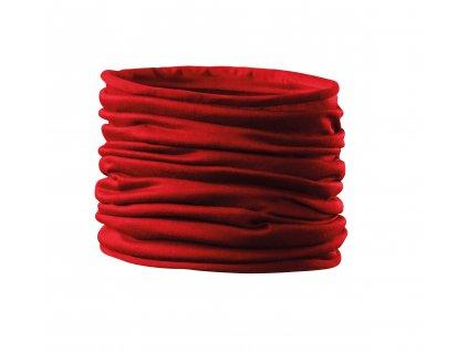 Nákrčník Twister červený (multifunkční šátek)