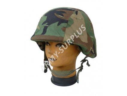 Helma (přilba) PASGT US balistická kevlar woodland originál