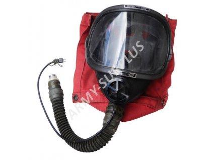 Plynová maska USA pro letištní hasiče oxygen aircraft firefighters