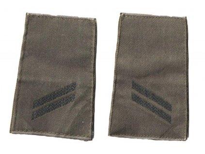 Hodnost nárameníky BW Bundeswehr Německo (desátník) Obergefreiter 1pár