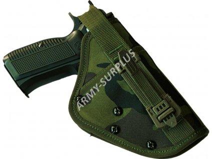 Pouzdro na pistoli Pi 52,75,85 opaskové pravé k MNS-2000 molle (6041A) popruh s potiskem vz.95 SPM AČR originál