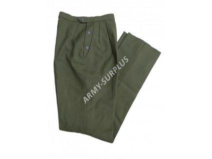 Kalhoty US UTILITY vlněné dámské oliv OG-108 originál