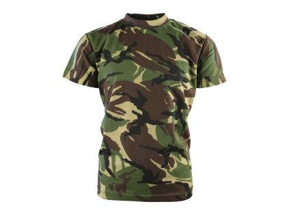 Triko (tričko) dětské maskovací DPM woodland Velká Británie Kombat 170g