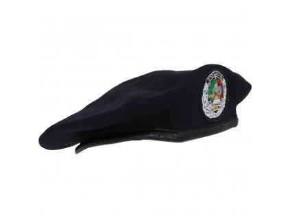 Baret tmavě modrý policie Angola s nášivkou (Angolská republika) originál