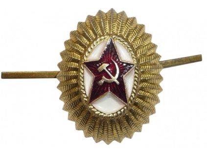 Odznak na čepici důstojník sovětské armády Rusko originál