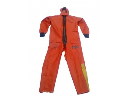 Ponorný oblek pro přežití Multifabs Survival (záchranná kombinéza) Velká Británie reflexní oranžový gumový