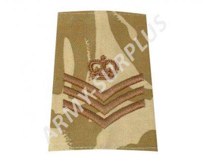 Hodnost výložka Velká Británie DPM desert Staff/Colour Sergeant