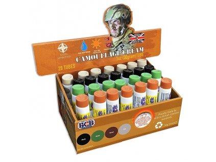 Barva maskovací krém 30g Tan písková (Camo creme) BCB tuba