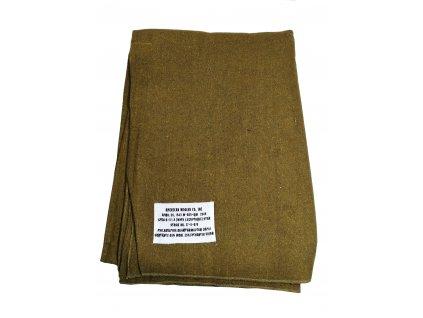 Deka US ARMY vlněná 230 x160cm khaki 65% vlna Repro
