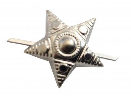 Odznak AČR pěticípá hvězda stříbřitá velká 19mm