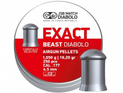 Diabolky JSB Exact Beast Shorts 250 cal. 4,5 mm (.177) 1.050 g