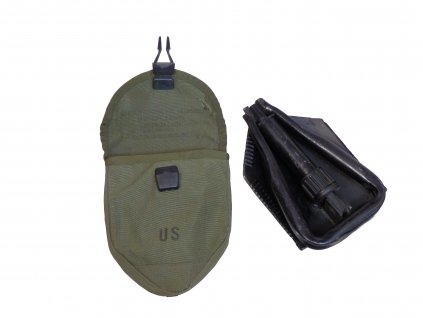 Lopatka US Vietnam M67 černá 3dílná skládací s pouzdrem originál
