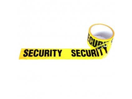 Výstražná vytyčovací páska Security žlutá 30m