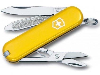 Victorinox Classic SD yellow kapesní zavírací nůž multifunkční žlutý