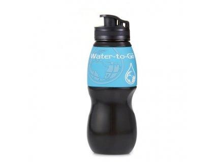 Water-to-Go filtrační láhev 75cl černá-modrá (láhev s filtrem 3v1)