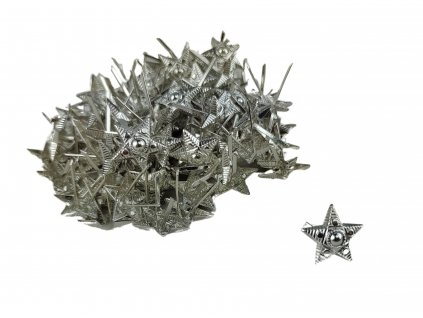 Odznak AČR hvězda stříbřitá malá 14mm
