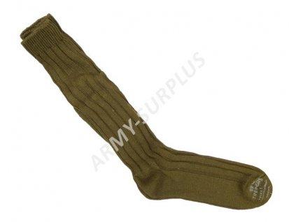 Podkolenky (ponožky) ČSLA zimní pletené oliv