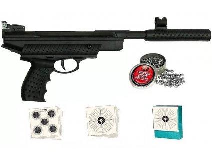 Hatsan zlamovací vzduchová pistole 4,5 mm sada