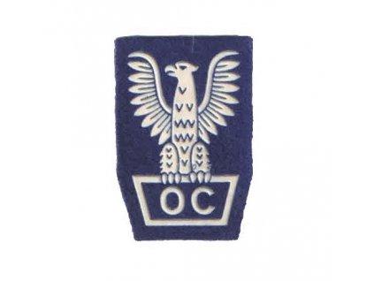 Nášivka čepicová civilní obrany orel Polsko OC Obrona Cywilna PRL 1973-1989