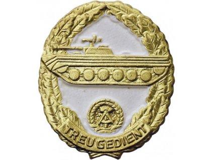 Odznak zlatý NVA Reservistenabzeichen Landstreitkräfte originál
