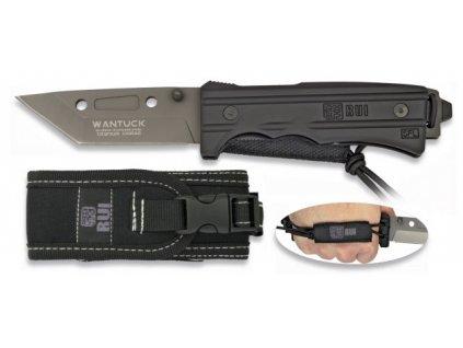 Nůž zavírací RUI WANTUCK TANTO černý s pouzdrem 19546