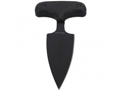 Tlačná dýka (nůž) s pouzdrem Albainox 32314 černá