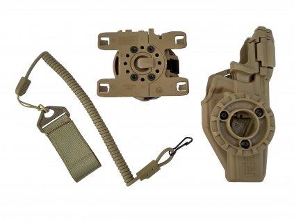 Pouzdro na pistol Glock 17 Molle Radar 1957 levé kompletní