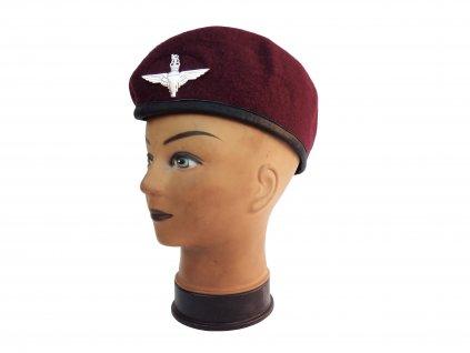 Baret Para britský Velká Británie Parachute Regiment bordo originál