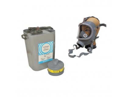 Plynová maska Skyddsmask M65 Finsko s plastovým boxem a filtrem