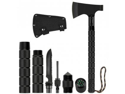 Multifunkční sekera (sekyrka, sekyra) Tactical Tomahawk Multi-Tool černá