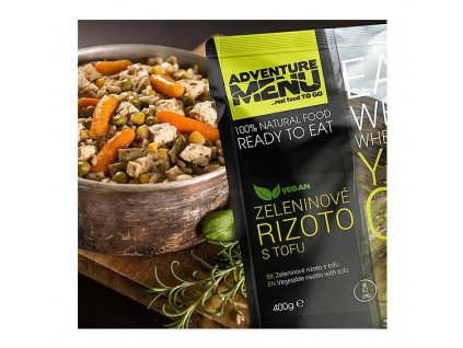 Adventure Menu Zeleninové rizoto s tofu (hotová strava) 400g BEZ LEPKU