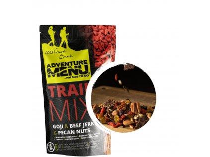 Adventure Menu Trailmix Goji,Hovězí JERKY,Pekanové ořechy 50g