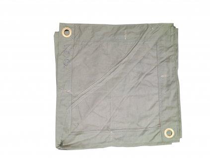 Celta Rumunsko 180 x 180cm originál khaki/oliv zánovní