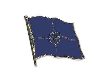 Odznak (pins)  20mm praporek NATO