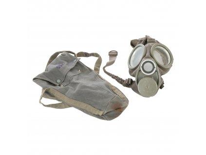 Plynová maska M36 1940 Bicapa Typ. 4 Švédsko s pouzdrem