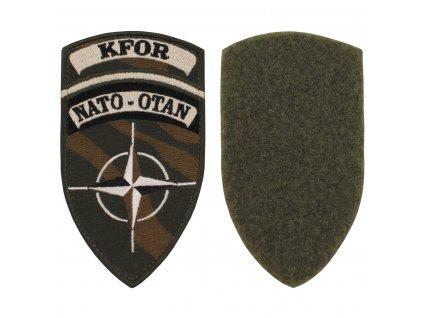 Nášivka NATO OTAN KFOR polní camo originál velcro