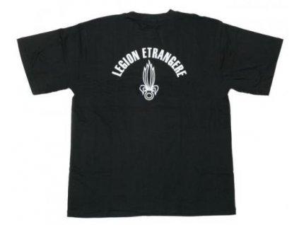 Tričko (triko) potisk Legion Etrangere černé