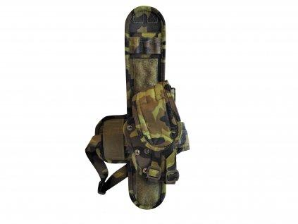 Závěs stehenní univerzální pravý s pouzdrem na pistoli CZ 75 SPM vz. 95 AČR originál nový
