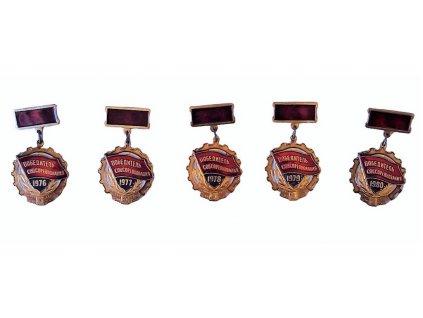 Medaile vítěz socialistické soutěže z roku 1976-1980 ve Vladivostoku SSSR