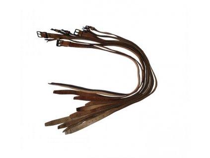 Opasek kalhotový ČSLA kožený světle hnědý 40.léta druhoválečný originál