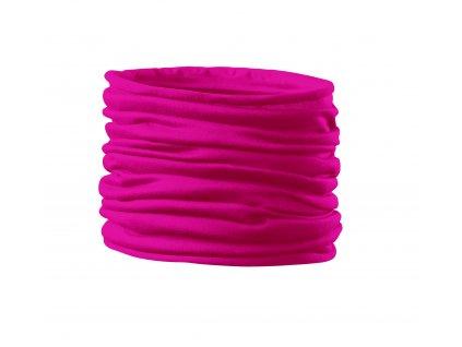 Nákrčník Twister neon pink růžová (multifunkční šátek)