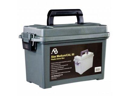 Box univerzální muniční bedna A.B. plastová Cal. 50 oliv